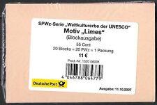 BRD 2007 Block 72 Limes Verpackung + Label