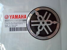 Yamaha Classic Vintage Metal Tank Emblem Badge 55mm BLACK & SILVER *UK STOCK*