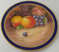 Stunning Fruit Plate Painted By Leighton Maybury (Former Royal Worcester Artist)