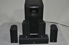 YAMAHA 5.1 HOME THEATER SPEAKER SYSTEM MODEL 130. NICE AND CLEAN WORKING SET.
