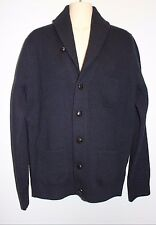 J.CREW $149 LAMBSWOOL THREE-POCKET CARDIGAN SWEATER MEN'S Size M 95066 Navy NEW