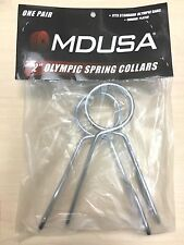 "Heavy Duty Steel OLYMPIC 2"" SPRING COLLARS WeightLifting Barbell Clips 1 PAIR"