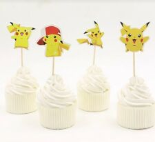 24 Pokemon Pikachu Cupcake Toppers Birthday Party Food Picks