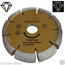 "Mortar Joint Raking Diamond Disc 115x22mm,4 1/2""Angle Grinder Pointing"