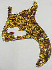 D'ANDREA PRO P BASS PICKGUARD 13 HOLE GOLD PEARLOID MADE IN THE USA