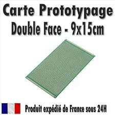 Carte Prototypage - 9x15cm - Double face - Pas 2,54mm (PCB board)
