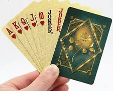 GOLDEN ROSE DESIGN POKER PLAYING CARD