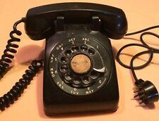 Vintage Black Desk Telephone Bell System, Western  Electric Co, Older Cord