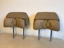 02-05 BMW E65 E66 745 760 FRONT LEFT & RIGHT HEADREST HEAD REST SET (Tan)