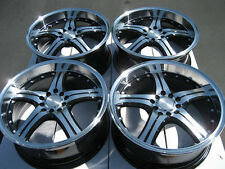 18 5x114.3 5x100 Polished Lip Wheels Fits Sc300 Taurus Matrix Celica RSX Rims
