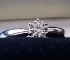 0.31 Diamond Solitaire Engagement Ring, E-F, SI1 Clarity, 14K White Gold, Size 5