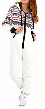 SkylineWears Womens Non Footed Jumpsuit Pajama Zipper Hoodie Playsuit Tracksuit