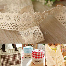 5 yard Vintage White Cotton Crochet Lace Trim Wedding Bridal Ribbon Sewing Craft