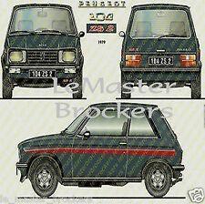 Peugeot 104 ZS 2 / 104ZS2 - Affiche automobile Poster voiture