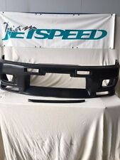 TeamJetspeed Made Fiberglass NISSAN R33 GTR Style Front Bar & Bonnet Lip FRP NEW
