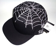 MENS 40 OZ NYC WEB SPIDER BLACK CAP ADJUSTABLE SNAPBACK HAT