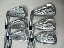 NEW LH CALLAWAY RAZR X FORGED IRON SET 3-7,9 PROJECT X 5.0 FLIGHTED STEEL IRONS