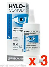 HYLO-COMOD® EYE DROPS 3 x 10 ml The classic among the therapies for dry eyes