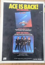 ACE FREHLEYS COMET (KISS) 1987  UK magazine ADVERT/Poster/clipping 11x8 inches