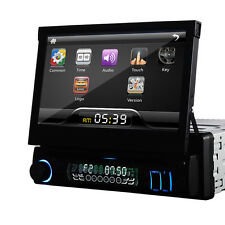"Single 1Din Car DVD Player In Dash Stereo 7"" LCD Touch Screen Radio BT"