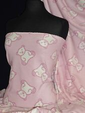 Polar Fleece- Anti Pill Fabric Teddy Bear Baby Pink PPFL45 BPN