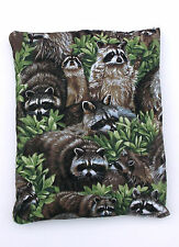 Raccoons Fabric Quilted Hot/Cold Pack w/Corn-Microwave/Freezer-Pizazz Creations