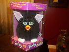 Original 1998 Vintage Furby Black, White Feet Pink Ears Green Eyes 70-800 NIB