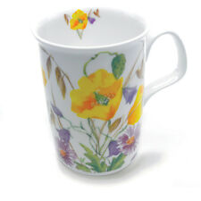 Roy Kirkham English Meadow Yellow Poppy Design Bone China Mug Traditional Drink
