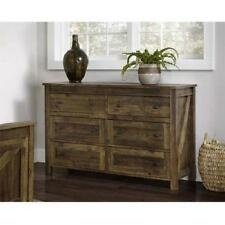 Dresser Barn Door Weathered Pine Rustic Farmhouse Table Console Storage Drawers