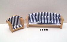banc et fauteuil en bois miniature,maison de poupée,vitrine, meuble salon  *B11