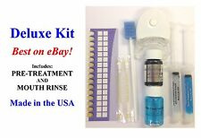 DELUXE TEETH WHITENING KIT Includes: Pretreatment & Mouth Rinse!