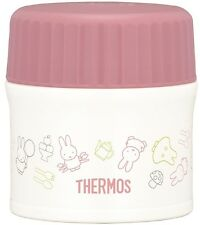 Thermos vacuum insulation food container jar Miffy 0.27L pink white JBI-271B PKW