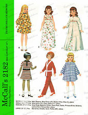 Vintage 20 inch doll clothing sewing pattern , Dancerina, annette,carol & ruthie