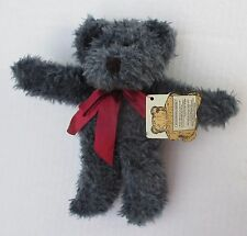 "BLUEBEARY Boyds TEDDY BEAR Bears in the Attic 9"" blue plush bead eyes nwt"