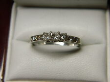 Princess Past Present Future Diamond Ring & Accents .71ct tw 10K White Gold