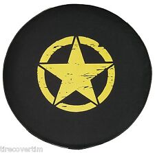 SpareCover Brawny Series - Jeep 32 Yellow Freedom Edi Oscar Mike Star Tire Cover