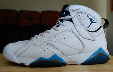Nike Air Jordan VII 7 Retro FRENCH BLUE 11.5 Lebron Kobe White No Lot 2002 UNC