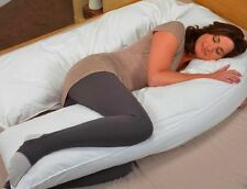 "Free Cover Included  20"" x 130"" Oversized Total Body Maternity Pregnancy Pillow"