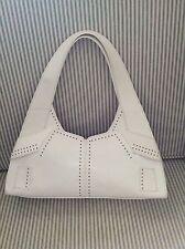 Mujer Bolso de Mano Cuero Real Blanco Bolso Diseñador Karen Millen verano debe tener en muy buena condición