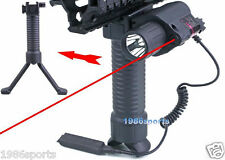 Cow Rifle Foldable Foregrip Bipod + Red Laser Sight + CREE Flashlight #01