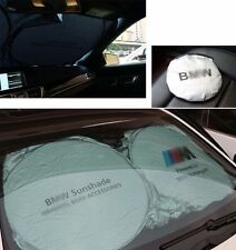 For BMW Front Rear Car Window Foldable Sun Shade Shield Cover Visor UV Block