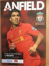 THIS IS ANFIELD LIVERPOOL FC VS HEARTS PROGRAMME SEASON 2012/13 DATE  30.8.12 K5