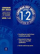 Longman competencias clave: aplicación del número de nivel 1 +2,, Muy Buen Estado Libro