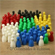 NEW Set of 120 Halma Pawns Board Game Bulk Playing Pieces 25mm Pawn - 6 Colors
