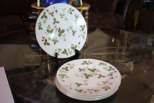 "5 Wedgwood WILD STRAWBERRY 6"" Bread Plates Bone China England R4406"