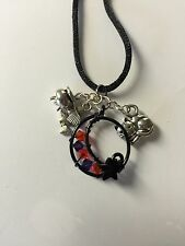 Great For Halloween!!!  Handmade Wire Pendant-Witch, Cat & Cauldron