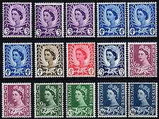 GB 1958-70 Wales Pre-Decimal Specialised Definitive Set of 15 MNH Unmounted Mint