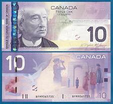 CANADA 10 Dollar 2005 - 2009 (1 Note) UNC P 102A e Low Shipping! Combine FREE!