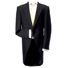 "100% Wool Traditional Black Morning Coat 40"" Short - Made in the UK"