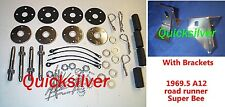 1969 1/2 Dodge Coronet Super Bee A12 440 Six Pack Hood Pin Kit With Brackets